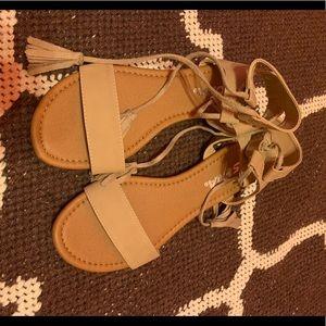 Tan soda shoes sandals